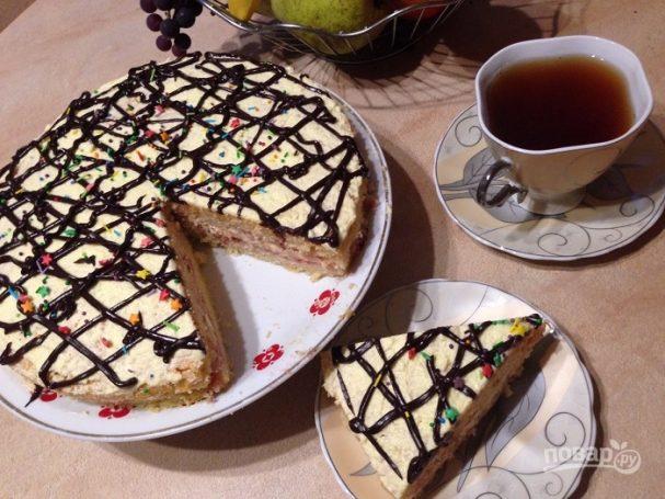 Торт домашний простой