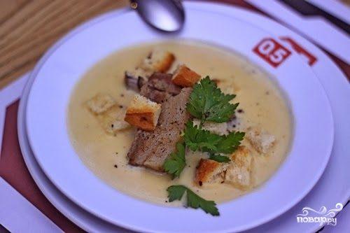 Суп-пюре гороховый с курицей