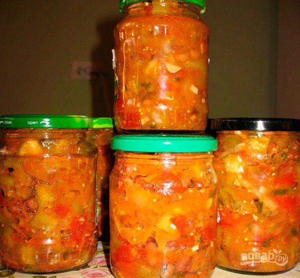 салат фасоль и кабачки на зиму рецепты