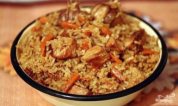 плов узбекский рецепт в казане со свининой
