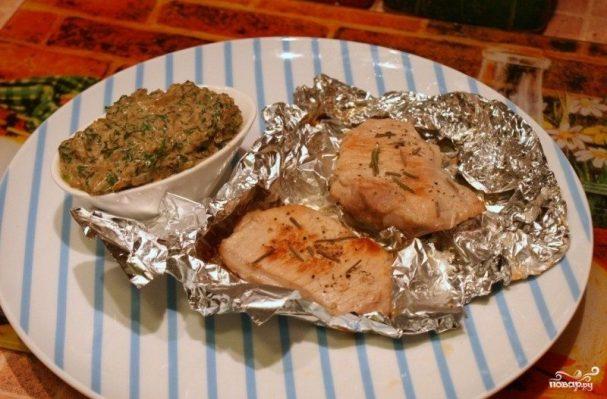 Мясо кусочками, запеченное в духовке