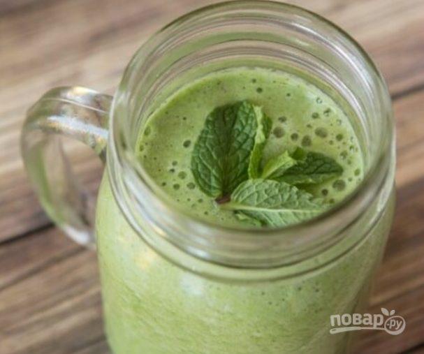 Зелёный коктейль для похудения
