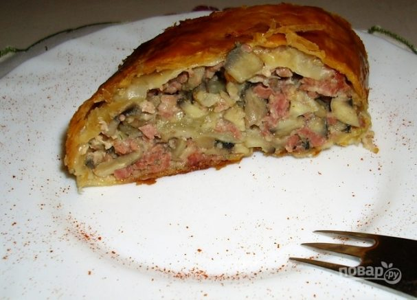 Мясной пирог в духовке