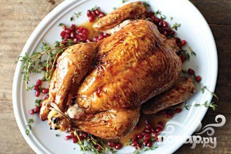 Жареная курица с гранатом