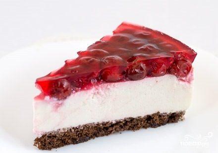 Торт с желе и творогом