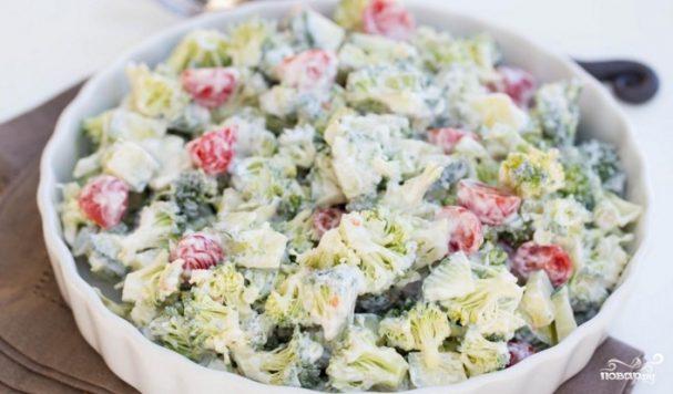 Салат из брокколи и овощей