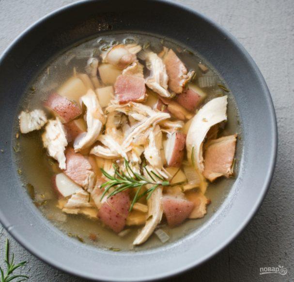 Суп с курицей и картошкой