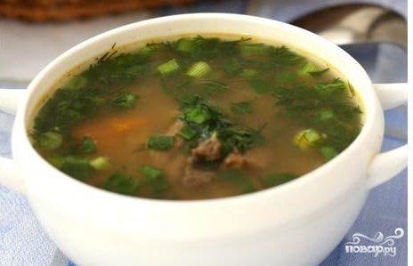 Суп с перловкой и говядиной