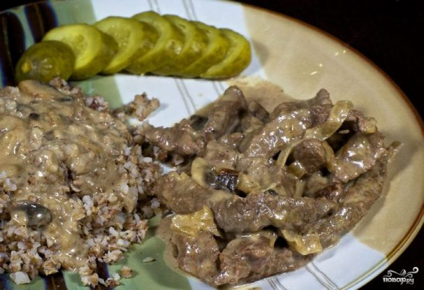 Бифстроганы из говядины рецепт со сливками