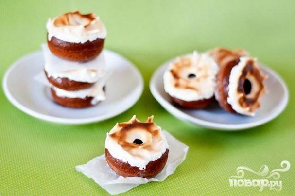 Мексиканские шоколадные пончики с глазурью