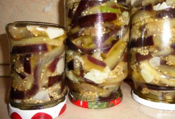 Салат Грибочки из баклажанов на зиму