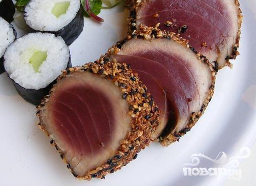 Жареный тунец по-азиатски