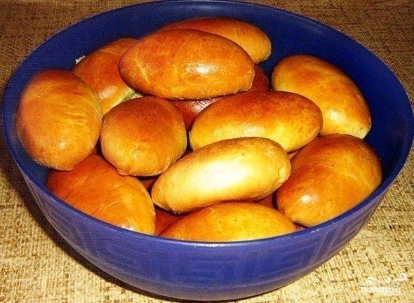 пирожки на кефире без дрожжей в духовке рецепт