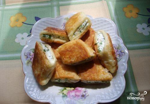рецепт пирожков с творогом на сковороде