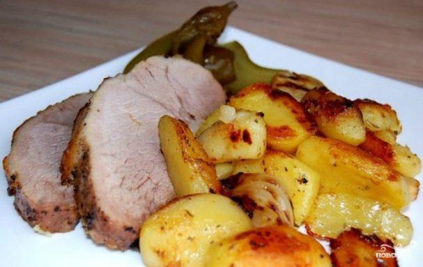 Картошка с мясом в рукаве для запекания