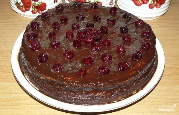 "Торт ""Пьяная вишня"" классический"