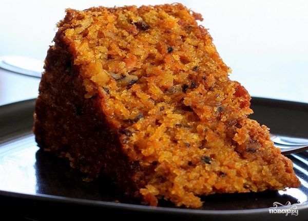 Диетический морковный торт