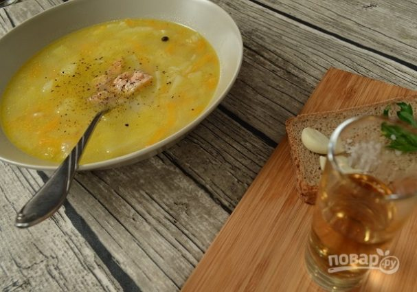 Суп из головы горбуши