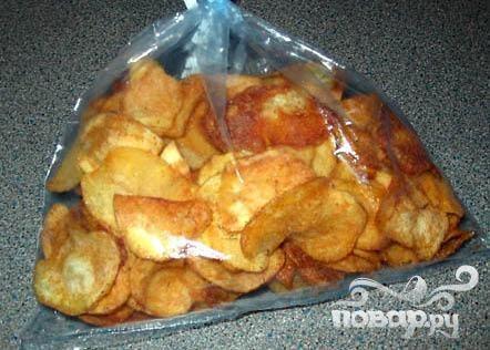Картофельные чипсы с куриной приправой и тмином