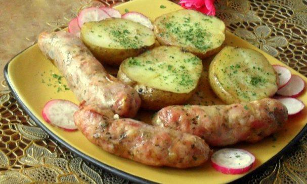 Домашние колбаски в духовке
