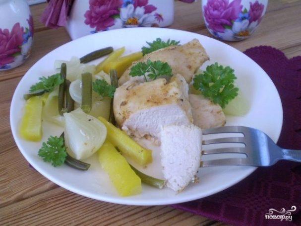 Курица с овощами в пароварке