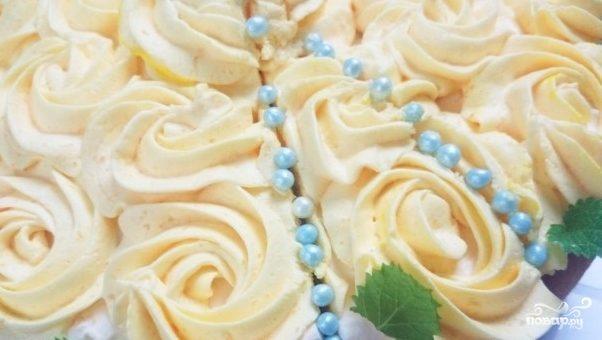 Kрем с желатином для торта