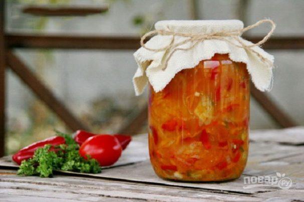 Салат на зиму с огурцами и помидорами