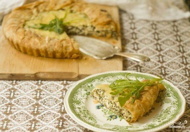 Пирог с рукколой