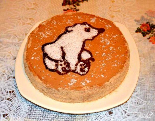 Торт мишка на севере пошаговое