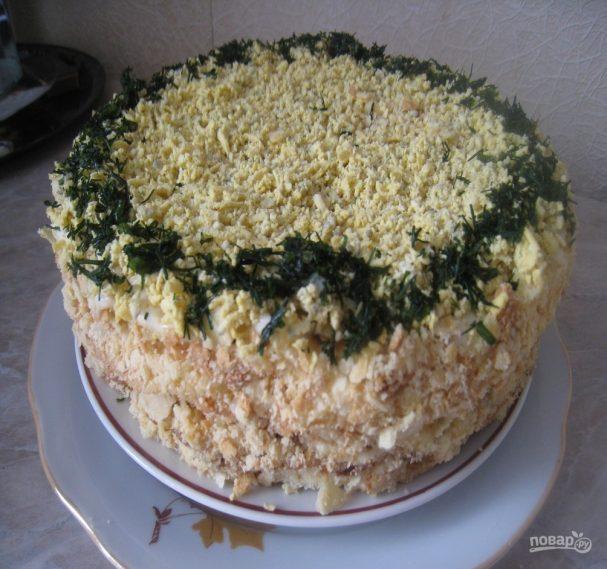 Закусочный торт без выпечки