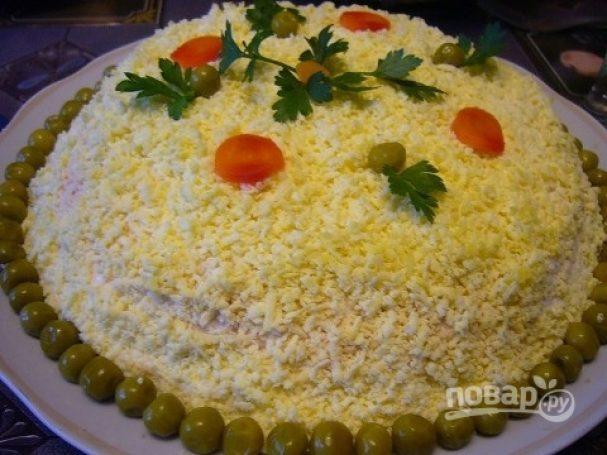 Мимоза (салат с сайрой)