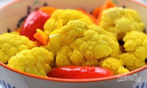 Маринованная цветная капуста (быстро)