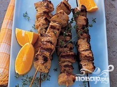 Шашлык из свинины с апельсинами и тимьяном