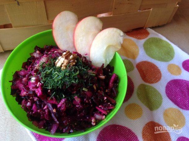 Салат из вареной свеклы без майонеза