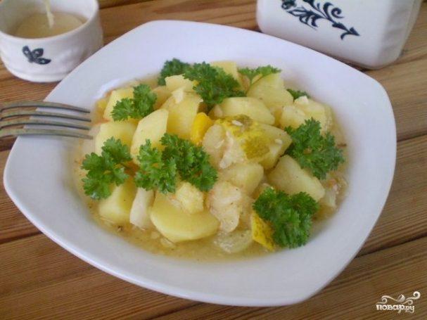 Тушеные овощи кусочками