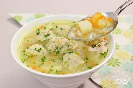 Домашний суп с фрикадельками