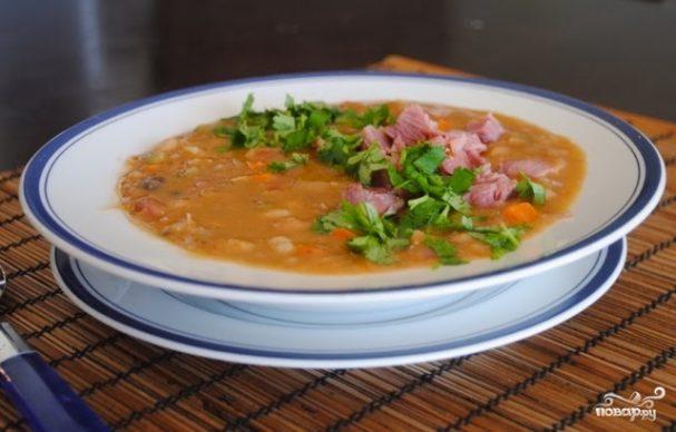 Гороховый суп из свиной рульки