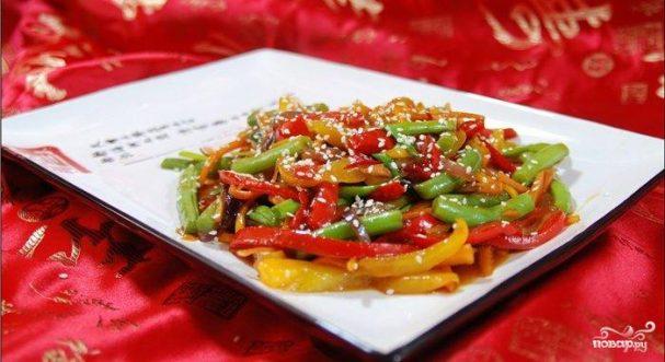 Стир-фрай с овощами