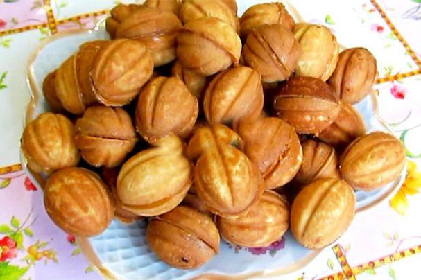 Печенье в формочках на газу