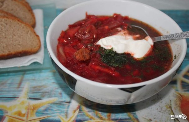 вкусный борщ рецепт пошаговый с фото из говядины