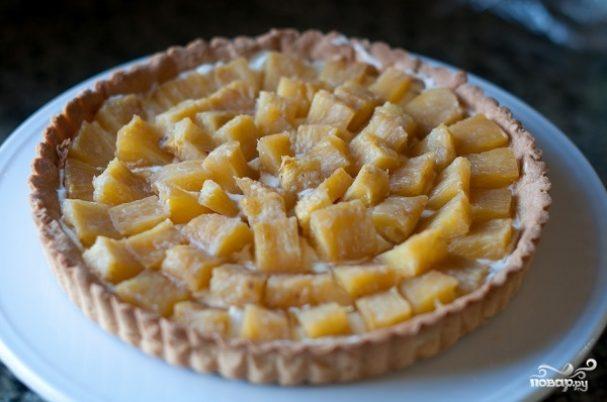 Тарталетки с ананасом и сыром
