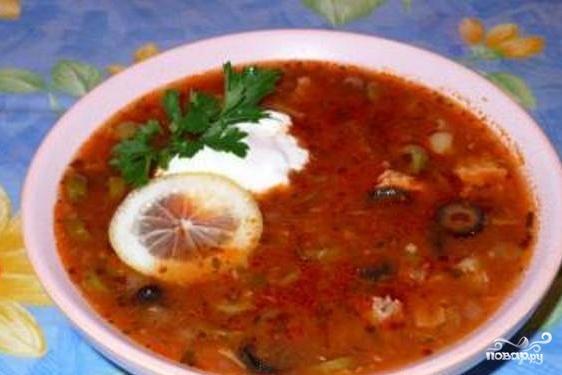 Рыбный суп с оливками