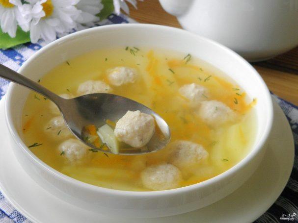 Суп с фрикадельками для ребенка 1 год