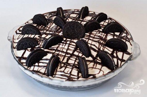 Пирог из крекеров и мороженого