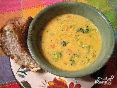 Суп-крем сырный с курицей