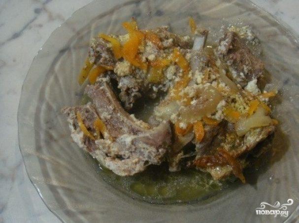 Баранина в сметанном соусе