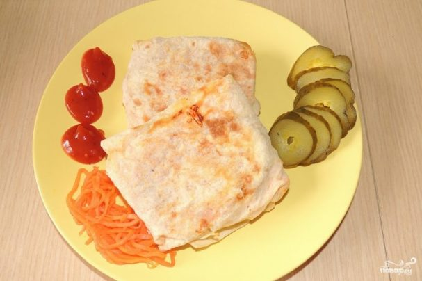 Лаваш с морковью и сыром