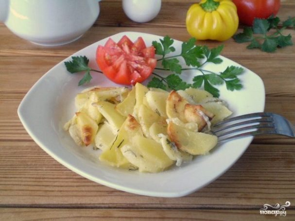 картошка в кефире в духовке рецепт