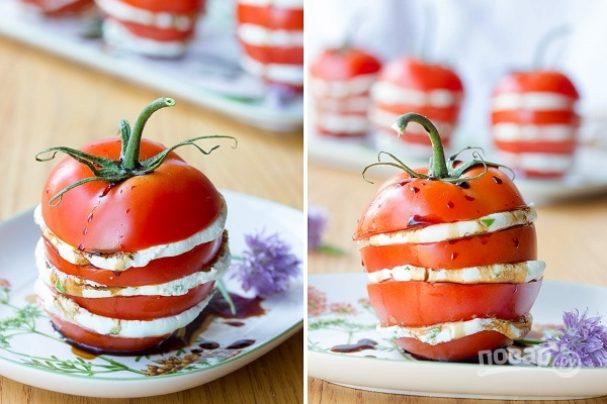 Закуска из помидоров с сыром