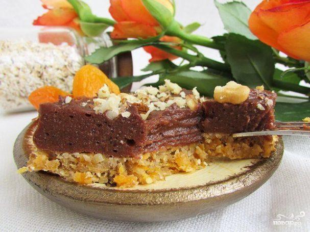 Постный торт без выпечки из печенья